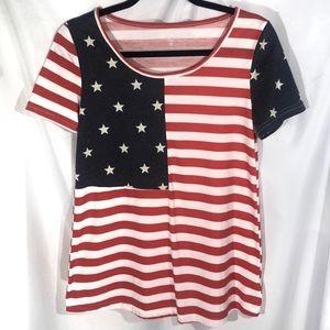 🍊American Flag Printed T-Shirt